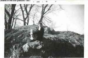JC in the old abandoned quarry in Kasota, MN. 1961