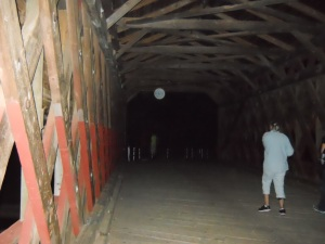 Kathy and an Orb on Sachs Bridge Gettysburg